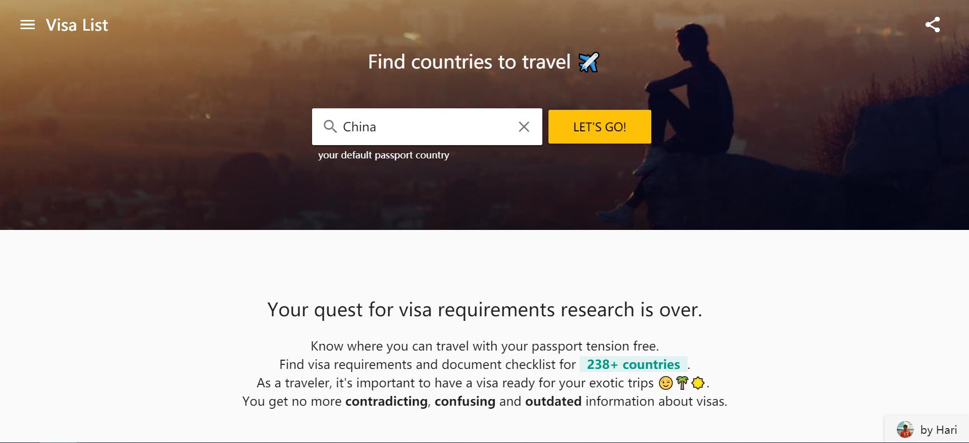 VisaList:去国外旅行必备