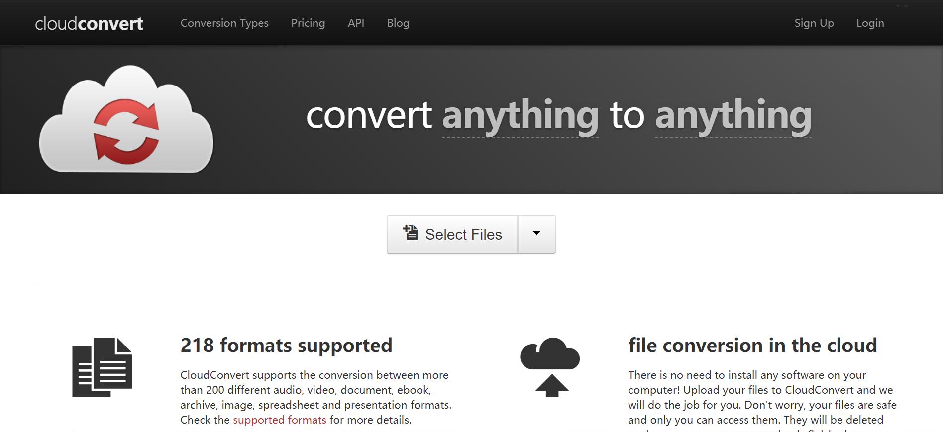 CloudConvert:在线文件转换