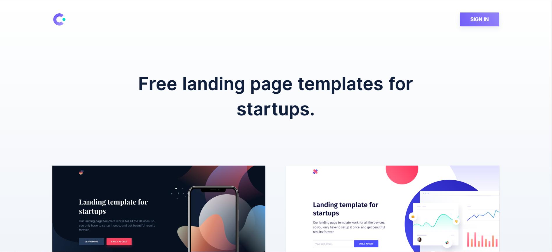 Cruip:免费的网站落地页模板