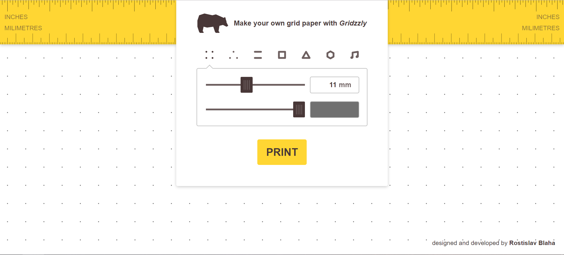 Gridzzly:自定义打印方格纸