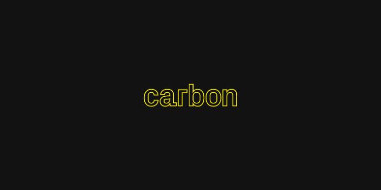 Carbon-生成源代码的精美图片